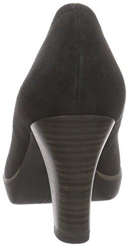 Tamaris 22425 - zapatos de tacón cerrados de cuero mujer negro - negro