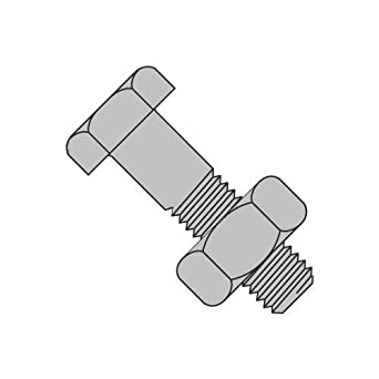 Quantity of 1 3//4-10 X 2-1//2 Grade A325 Structural Bolt /& Nut