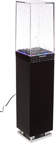 Sylvania SP118-BLACK Water Dancing Bluetooth Mini Tower Spea