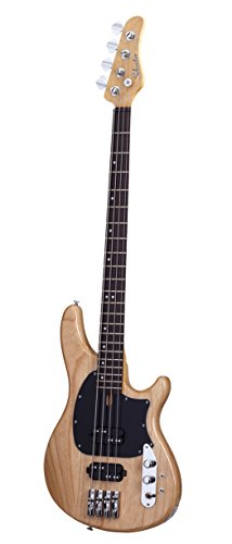 Schecter 2490 4-String Bass Guitar, Gloss Natural Bass Guitar Natural Gloss