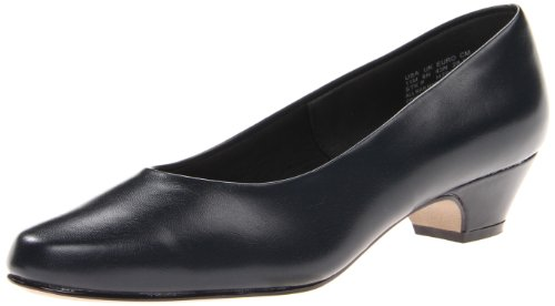 Soft Style Women's Angel II Pump,Navy Smooth,8 W US
