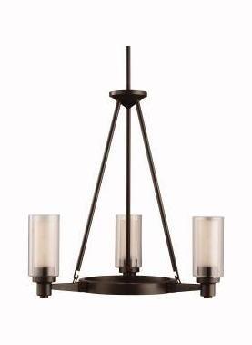 Three Light Olde Bronze Up Chandelier - Circolo 3 Light
