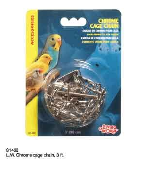 Living World 81402 Chrome Cage Chain, 3'