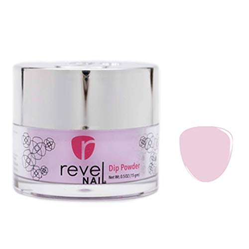 Revel Nail Dip Powder | for Manicures | Nail Polish Alternative | Non-Toxic, Odor-Free | Crack & Chip Resistant | Vegan, Cruelty-Free | Can Last Up to 8 Weeks | 0.5oz Jar | Cream | Heaven
