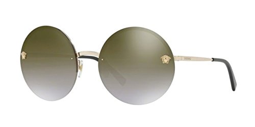 Versace Womens Sunglasses Gold/Gold Metal - Non-Polarized - 59mm by Versace