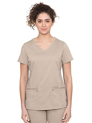 healing hands Purple Label Women's Juliet Top – Two Pocket V-Neck Scrub Top