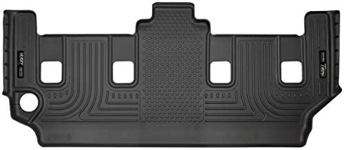 Husky Liners Fits 2008-16 Chrysler Town & Country, 2008-19 Dodge Grand Caravan – with 2nd Row Stow-N-Go Seating Weatherbeater 3rd Seat Floor Mat,Black,19091
