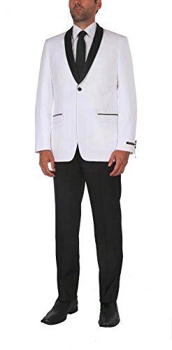 Peak Jacket Double Tuxedo Breasted (P&L Men's Suit 2-Piece Premium Slim Fit Prom Party Wedding Tuxedo Blazer Jacket & Flat Front Pants)