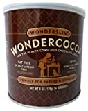 Wonderslim Pure Fat-Free Cocoa Powder, 6-Ounce Cans (Pack of 3)
