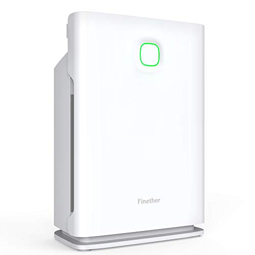 Finether Air Purifier Home Carbon Filter Air Purifiers Quiet Air Cleaner with HEPA Filter, 3 Stage Filtration, 4 Timers, 3 Fan Speed, Child Lock, Filter Replace Indicator for Room Bedroom 323 sq. Ft Review