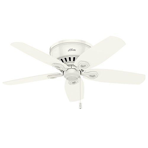 Hunter 51090 42'' Builder Low Profile Ceiling Fan with Light, Snow White by Hunter Fan Company (Image #2)