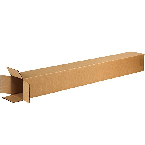 "Aviditi 4440 Corrugated Boxes, Tall 4"" x 4"" x 40"", Kraft (Pack of 25) from Aviditi"