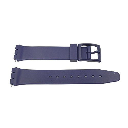 17mm Blue PVC Swatch Style Replacement Watch (Pvc Band)