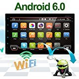Best Wifi Model Android 6.0 Quad-Core 7'' Full touch-screen Universal Car NO DVD player GPS 2 din Stereo GPS Navigation free camera and map by EinCar