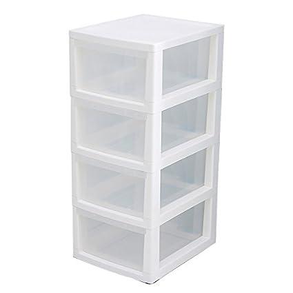 Combinación de plástico cajonera anaquel en la caja de ...