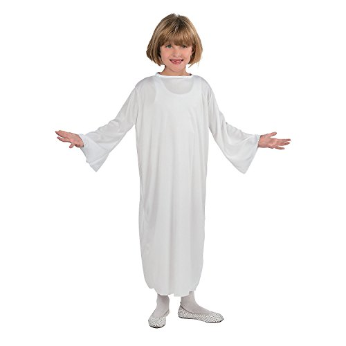 Fun Express White Nativity Gown Costume (Child Size - Small) for Christmas -