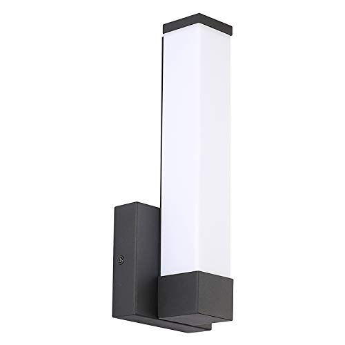 LED Wall Lamps, 7Degobii Modern Black Wall Sconces Lighting Indoor Wall Lights Fixtures 12inch Height 6W 4000K