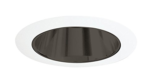 Juno Lighting 17B-WH 4-Inch Recessed Trim, Black Alzak with White Trim