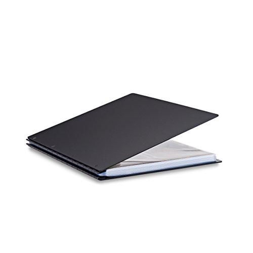 Pina Zangaro Vista 11x14 Portrait Screwpost Binder Onyx, Includes 20 Pro-Archive Sheet Protectors (34089) ()