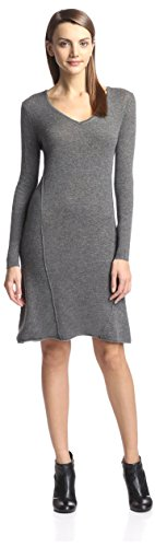 Cashmere Addiction Women's Swing Sweater Dress, Heather Grey, L