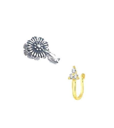 Buy Chooz Designer Studio Women S Alloy Clip On Nose Ring Clicker
