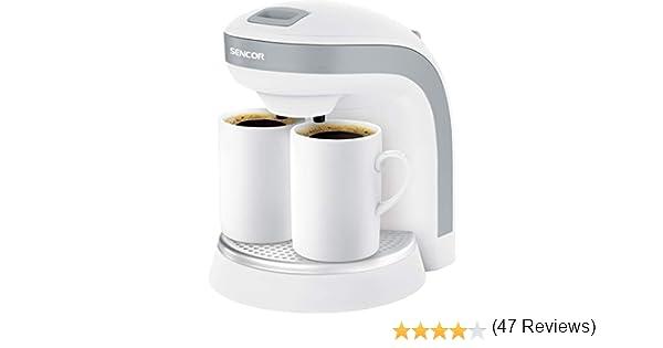 Sencor SCE 2001WH 2001WH-Cafetera (2 boquillas, Capacidad para 0,3 litros), Plata: Amazon.es: Hogar