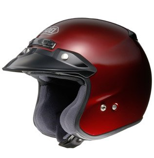 Shoei RJ Platinum-R Open Face Motorcycle Helmet Wine Red XXL 2XL