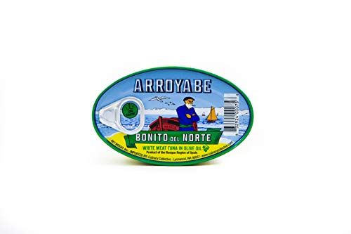 Arroyabe Bonito Tuna in Olive Oil, 4-Ounce Tin (Pack of ()