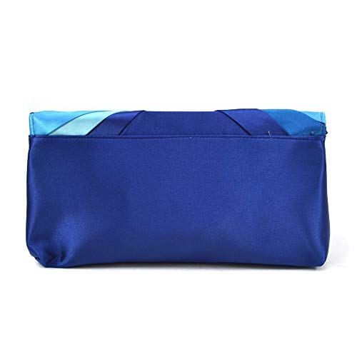 Woman Evening Bag Clutch Purse Multicolor Pleated Satin Party Handbag by MKY (Image #1)