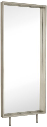Majestic Mirror Silver Floor Mirror with Chrome Legs - Plain Mirror Great Styling Easy Clean Surface - mirrors-bedroom-decor, bedroom-decor, bedroom - 31PtoohJTpL -