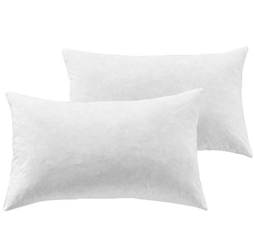 Yesterdayhome Set of 2-12x20 Oblong Pillow Inserts-Down Feat