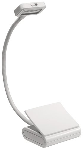 Trio Clip-On Reading Light, White, for Books, Kindle, and all E-Readers (Booklight)