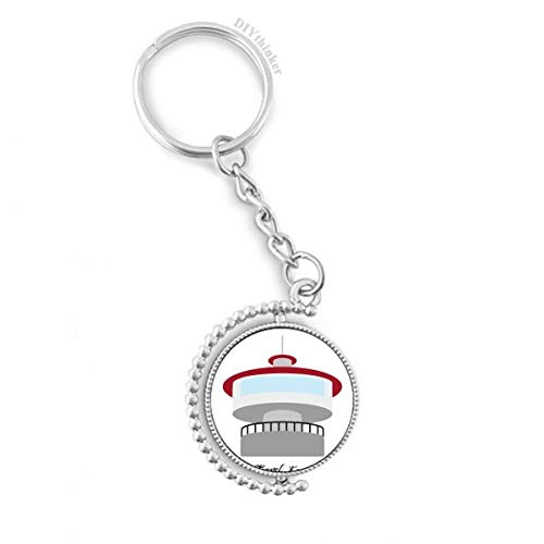 Korea N Seoul Tower Rotatable Key Chain Ring Keyholder