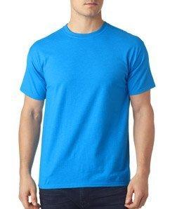 (Hanes Men's X-Temp Crewneck Short-Sleeve T-Shirt (XX-Large), Neon Blue Heather)