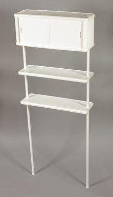 Zenith 2090W Two Tier Bathroom Space Saver Cabinet, White