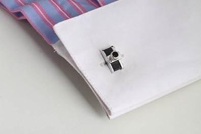 Camera Shape Cufflinks Set Platinum Plated Men Shirt Cuff Button Fashion Cuff Studs