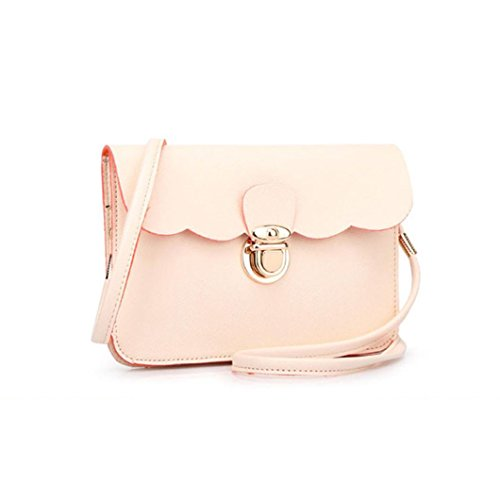 Girl Shoulder Handbag Rcool Messenger Clutch Hobo Women Bag Leather Bag Satchels Shoulder Women Bag Purse Beige wnqYICza