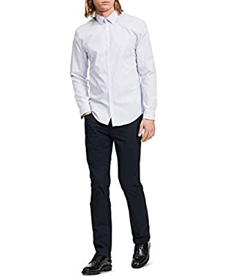 Calvin Klein Men's Slim Fit Check Long Sleeve Non-Iron Button Down Shirt