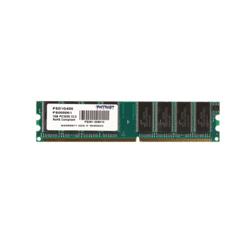 Patriot Signature 1 GB PC-3200 DDR-400MHz Memory Module - - Memory Ddr Fast