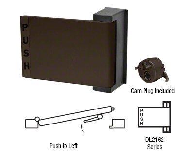 CRL Duranodic Bronze Finish Universal Push-Pull Paddle Handle<BR>Push to Left