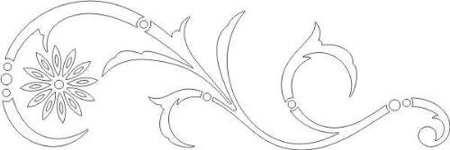 WANDTATTOO / Wandaufkleber - e26 hübsches Tribal Blätter Blumen Pflanzen Ranke 160x53 cm - weiß
