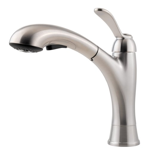 Pfister T534-CMS One Handle Pullout Kitchen Faucet - Stainless Steel