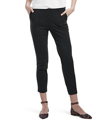 HUE Women's Seamed Luxe Ponte Skimmer Legging, Black - Solid, XL ()