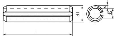 ISO 8752 3x20 Edelstahl A2 Werkstoff:Edelstahl A2 Nenn /Ø:3mm l:20mm d1*:3,3 Spannh/ülse DIN 1481