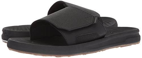 Quiksilver Men's Travel Oasis Slide Sandal, Black/Black/Brown, 8(41) M US by Quiksilver (Image #5)