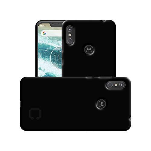 - Case Creation Motorola One Power Back case, Luxury Rubberised Matte Hard Case Back Cover for Motorola One Power (2018) (6.2-inch) Color - Luxury Black