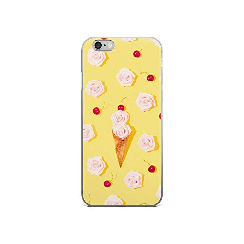 iPhone 6/6s Pure Clear Case Cases Cover Modern Summer Floral Ice-Cream Seamless Pattern