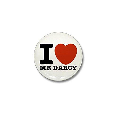 CafePress I Love Darcy - Jane Austen Mini Button 1