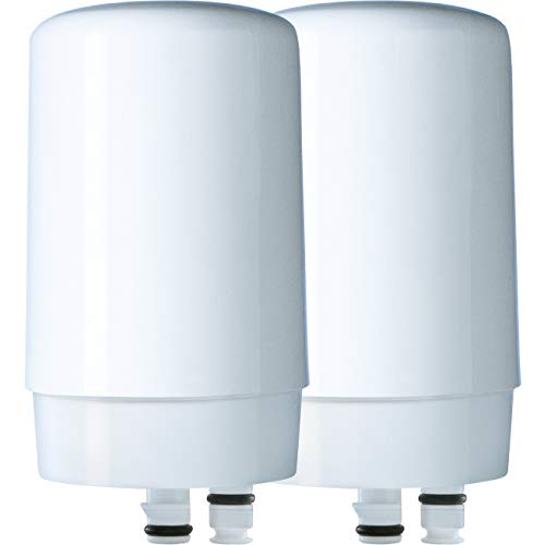 Brita On Tap Basic Water Faucet Filtration System Filter, White, 2 - Replacement Lid Brita
