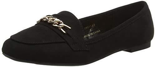 1 black Jain Bout Ballerines Femme Fermé Wide New Foot Look Black fwq7vv